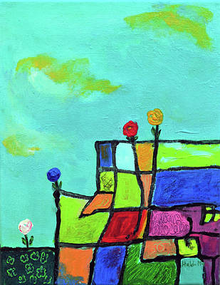 Painting - Support  by Haleh Mahbod