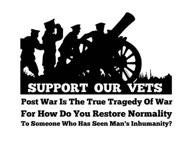 Support Our Veterans  Art Print by Motivational Artwork