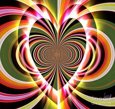 Faniart Africa America Digital Art - Supportive Heart by Fania Simon