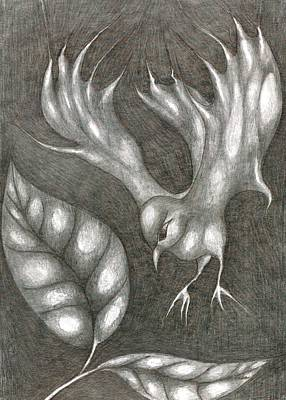 Primitive Drawing - Supposedly Bird  by Wojtek Kowalski