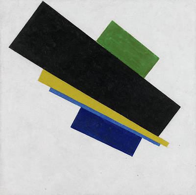 Suprematism Painting - Suprematism, 18th Construction by Kazimir Malevich