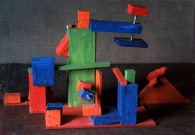 Mixed Media - Suprematist Composition by Maria Rosa
