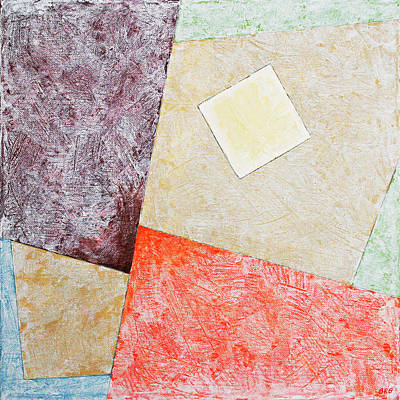 Multicolored Painting - Suprematist Composition No 1 With A Square by Ben Gertsberg