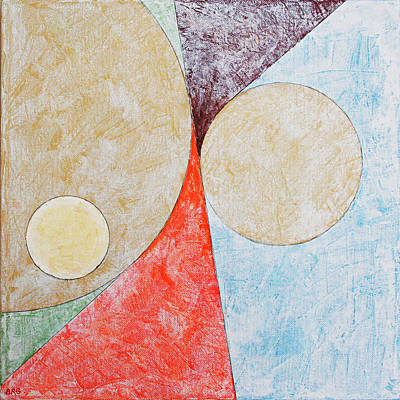 Painting - Suprematist Composition No 2 With A Circle by Ben Gertsberg