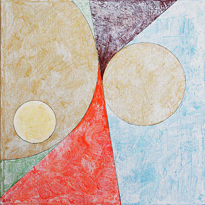 Painting - Suprematist Composition No 2 With A Circle Large by Ben and Raisa Gertsberg