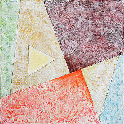 Painting - Suprematist Composition No 3 With A Triangle by Ben Gertsberg