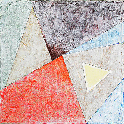 Painting - Suprematist Composition No 4 With A Triangle Large by Ben and Raisa Gertsberg