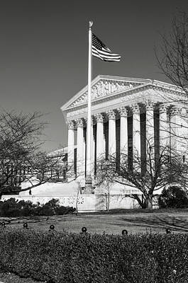Photograph - Supreme Court In The Winter by Brandon Bourdages