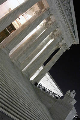 Photograph - Supreme Court Night Angle by Cora Wandel