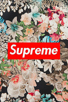 Supreme Flowers Art Print