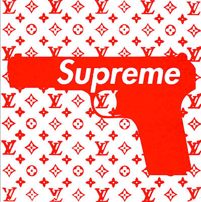 Mixed Media - Supreme Gun By  Louis Vuitton by Nicholas Nixo