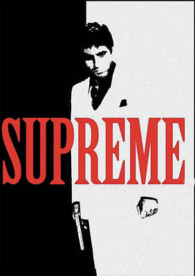 Mixed Media - Supreme Scarface by Nicholas Nixo