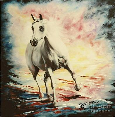 Painting - Flygende Lammet    Productions           Supreme The Arabian by Sigrid Tune
