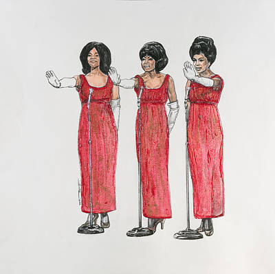 Painting - Supremes by Buena Johnson
