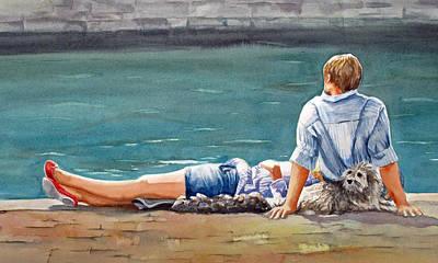 Painting - Sur La Seine by Diane Fujimoto