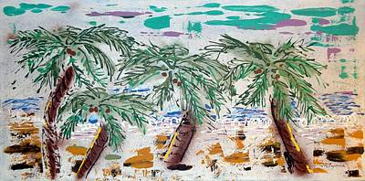 Painting - Surf And Palms by J R Seymour
