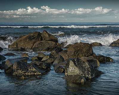 Photograph - Surf And Rocky Beach On Coronado Island by Randall Nyhof