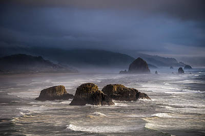Photograph - Surf And Sea Stacks by Robert Potts