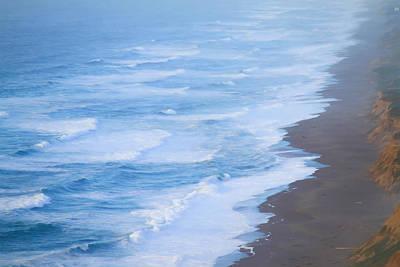 Photograph - Surf At Point Reyes Beach by Bonnie Follett
