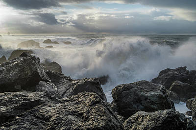 Photograph - Surf Attacks Patrick's Point Shoreline by Greg Nyquist