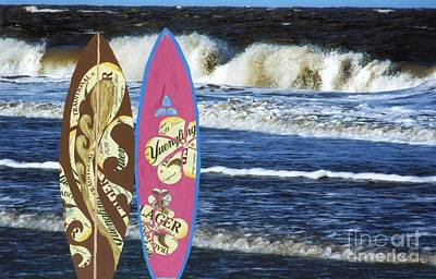 Beer Mixed Media - Surf Boards by Katherine W Morse