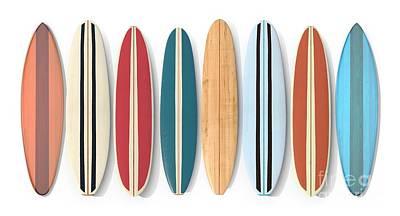 Digital Art - Surf Boards Row by Edward Fielding