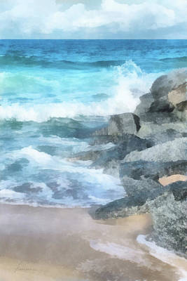 Digital Art - Surf Break by Francesa Miller