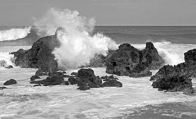 Photograph - Surf Breaking On The Rocks by John Orsbun