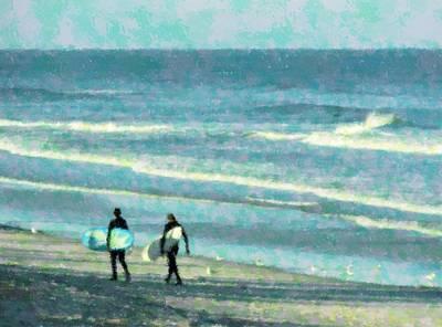 Surf Brothers Art Print