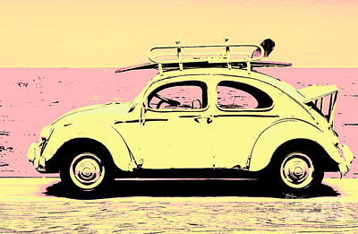 Surf Bug Popart Poster  Art Print by Jorgo Photography - Wall Art Gallery