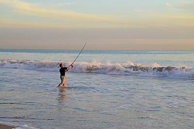 Photograph - Surf Casting In Ventura by Lynn Bauer