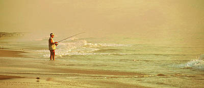 Surf Casting Art Print by JAMART Photography