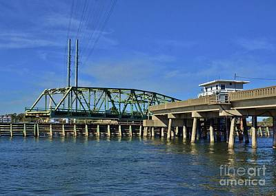 Photograph - Surf City Bridge - 2 by Bob Sample