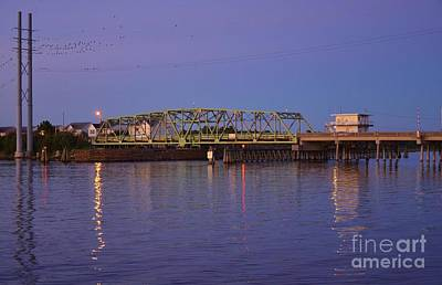 Photograph - Surf City Bridge Late Day-1 by Bob Sample