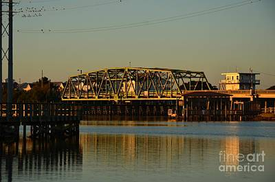 Photograph - Surf City Bridge Late Day by Bob Sample