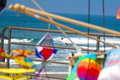 Photograph - Surf City Huntington Beach Ca by Waterdancer