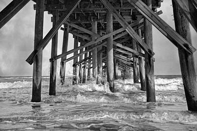 Waves Splash Photograph - Jolly Roger Pier A Dreamer's Day by Betsy Knapp