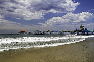 Art Print featuring the photograph Surf City Pier by Ron Dubin