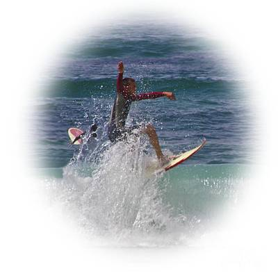 Photograph - Surf Dude On Transparent Background by Terri Waters