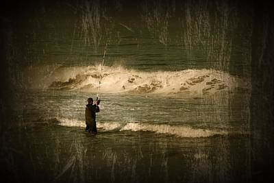 Photograph - Surf Fisherman - Jersey Shore by Angie Tirado