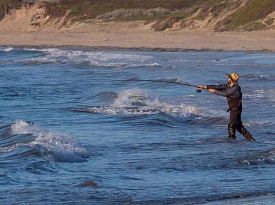 Photograph - Surf Fishing by Derek Dean