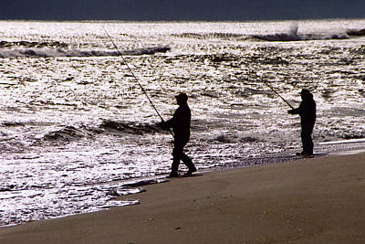 Photograph - Surf Fishing by Steve Karol