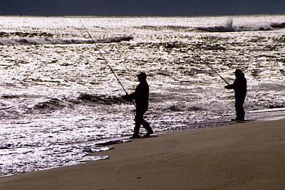 Photograph - Surf Fishing by Steve Karol