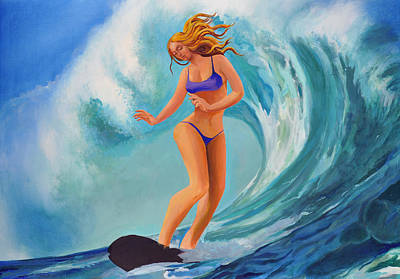 Painting - Surf Goddess by Geoff Greene