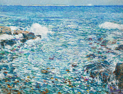 Crashing Wave Painting - Surf, Isles Of Shoals, 1913 by Childe Hassam