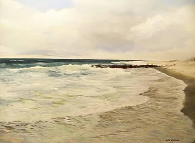 Surf Lace Art Print by Ken Ahlering