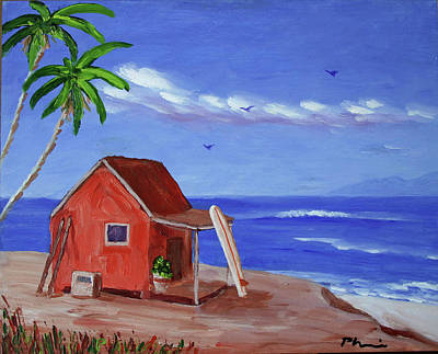 Surf The Rincon Painting - Surf Overlook by Bob Phillips