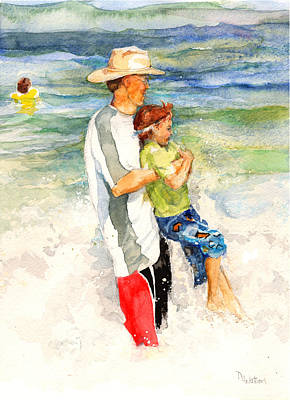 Painting - Surf Play by Nancy Watson