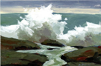 Painting - Surf Poem by Mary Byrom