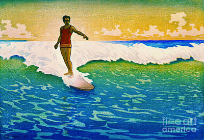 Photograph - Surf Rider 1918 by Padre Art